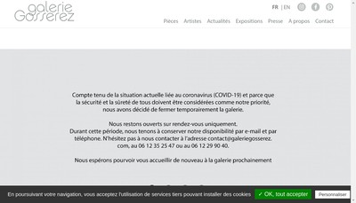 Site internet de Galerie Gosserez