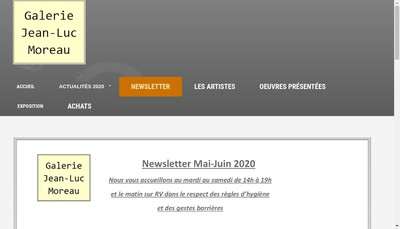 Site internet de Galerie Jean-Luc Moreau