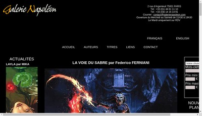 Site internet de Gal Napoleon - Borntowin - Story Board