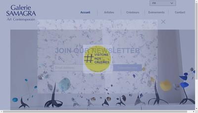 Site internet de Galerie Samagra