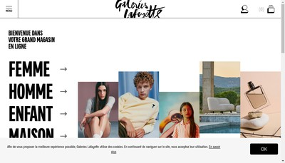 Site internet de Galeries Lafayette