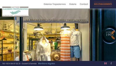 Site internet de Les Galeries Tropeziennes