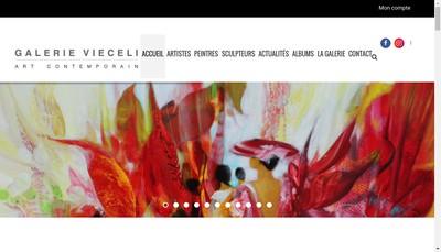 Site internet de Galerie Vieceli Cannes