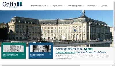Site internet de Galia Capital