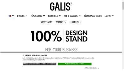 Site internet de Galis Factory
