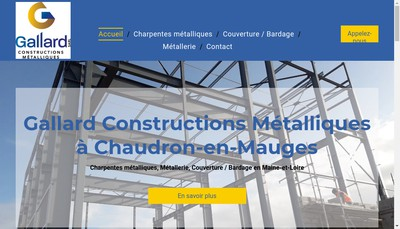 Site internet de Gallard Constructions Metalliques