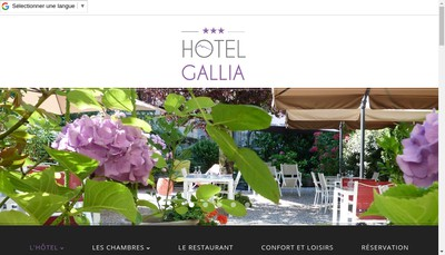 Site internet de Gallia Hotel