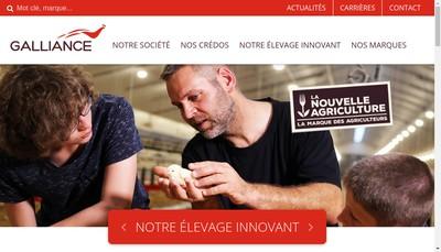 Site internet de Galliance Volaille Fraiche