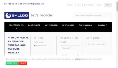 Site internet de Galloo France
