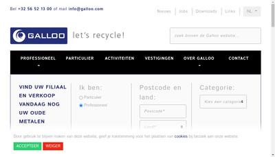 Site internet de Vandamme Recuperation Recyclage