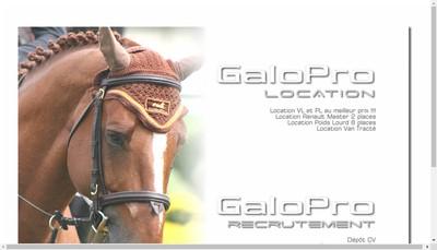 Site internet de Galopro