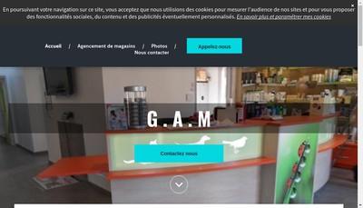 Site internet de Gam