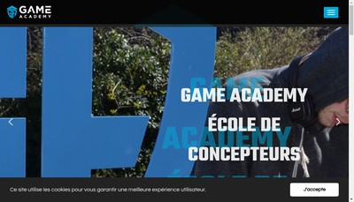 Site internet de Game Academy