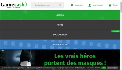 Site internet de Game Cash