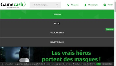 Site internet de Game Cash