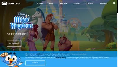 Site internet de Gameloft Se