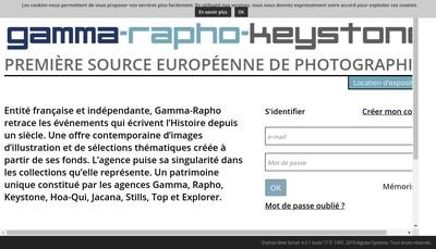 Site internet de Gamma-Rapho