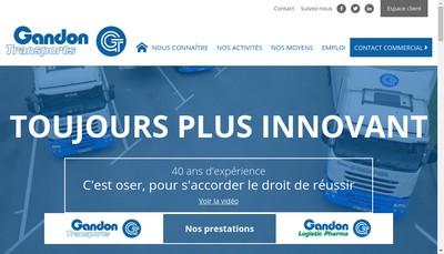 Site internet de Gandon Transports