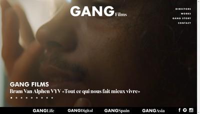 Site internet de Gang Studio