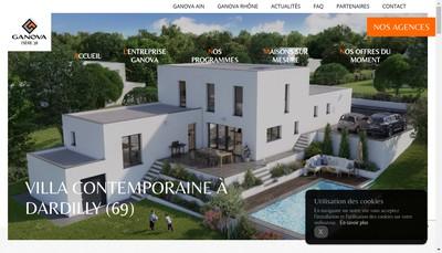 Site internet de Ganova Entreprise