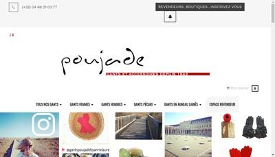 Site internet de Societe du Gant Andre Poujade Segap