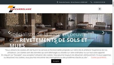 Site internet de Gap Carrelage