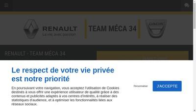 Site internet de Team Meca 34