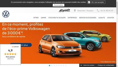 Site internet de Algauto