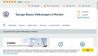 Site internet de Garage Beyou Morlaix