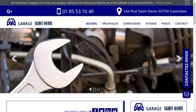 Site internet de Garage Saint Denis