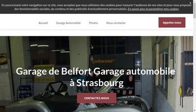 Site internet de Garage de Belfort