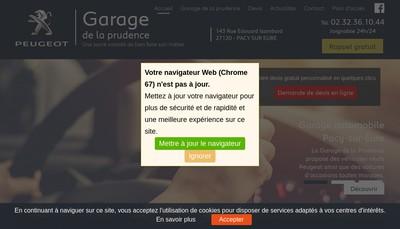 Site internet de Garage de la Prudence