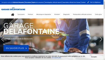 Site internet de Garage Delafontaine