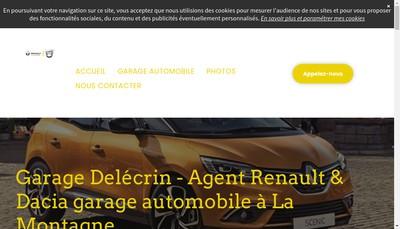 Site internet de Garage Delecrin