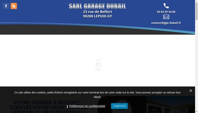 Site internet de Garage Dubail