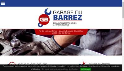Site internet de Garage du Barrez
