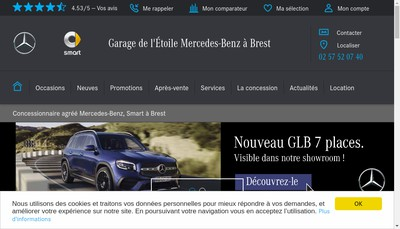 Site internet de Garage Etoile Auto Style Auto Prestige