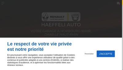 Site internet de Haeffeli Auto