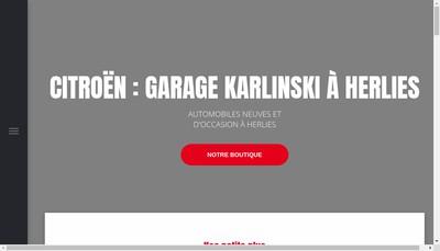 Site internet de Garage Karlinski
