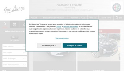 Site internet de Garage Lesage