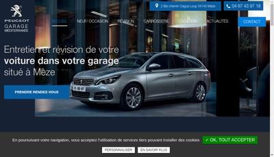 Site internet de Garage Mediterranee