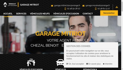 Site internet de Garage du Moulinet