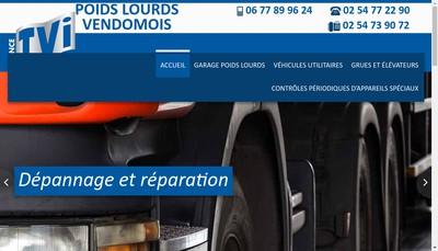 Site internet de Poids Lourds Vendomois
