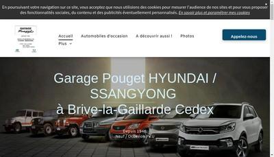 Site internet de Garage Pouget SAS