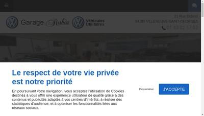 Site internet de Garage Rabes