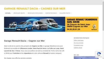 Site internet de Garage Deambrosi