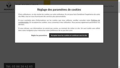 Site internet de SARL Roches