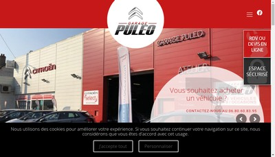 Site internet de Garage Puleo