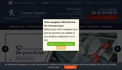Site internet de Garage Auguste