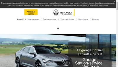 Site internet de SARL Garage Alain Borsier